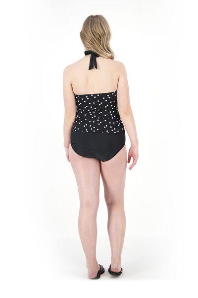 dames bikinislip zwart/wit M - 22310172 - HEMA