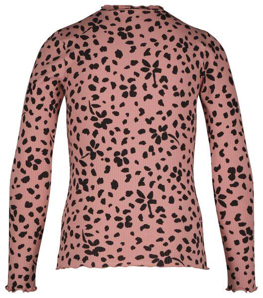 kinder t-shirt rib roze roze - 1000024754 - HEMA