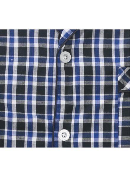 herenpyjama poplin donkerblauw donkerblauw - 1000013580 - HEMA