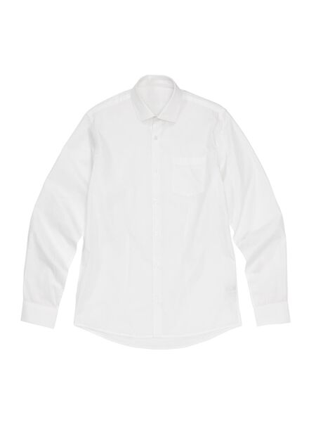 herenoverhemd tailored fit wit wit - 1000000693 - HEMA