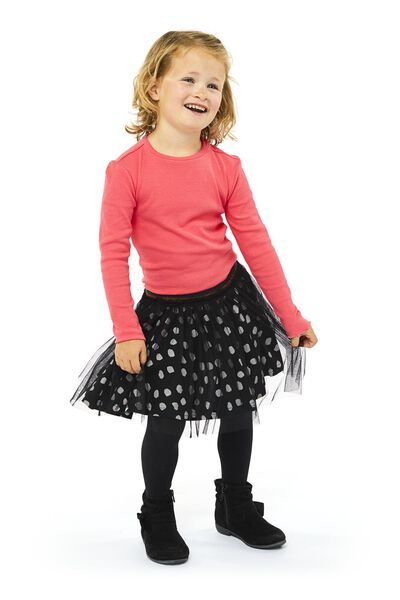 kinderrok zwart/wit 86/92 - 30839432 - HEMA