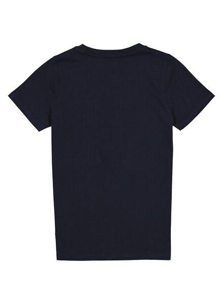 kinder t-shirt blauw blauw - 1000013664 - HEMA