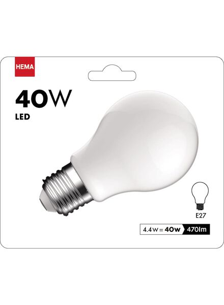 LED matte lamp 4,4 watt - grote fitting - 470 lumen - 20090061 - HEMA