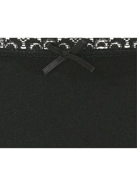3-pak damesslips zwart zwart - 1000008988 - HEMA