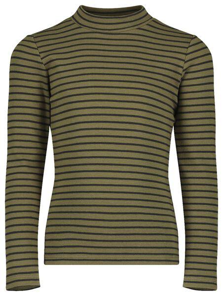 kinder t-shirt legergroen legergroen - 1000018302 - HEMA