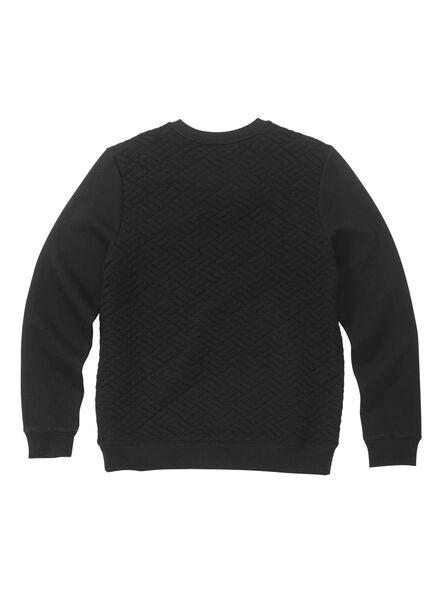 herensweater zwart zwart - 1000009948 - HEMA