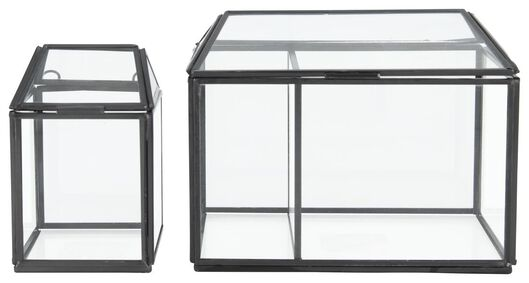 vitrinedoosje - 13.4 x 18.5 cm - zwart - 13390036 - HEMA