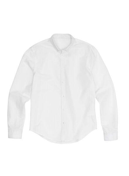heren overhemd wit wit - 1000012239 - HEMA