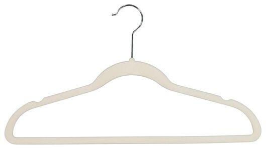 kledinghangers gebroken wit velours - 6 stuks - 39820505 - HEMA