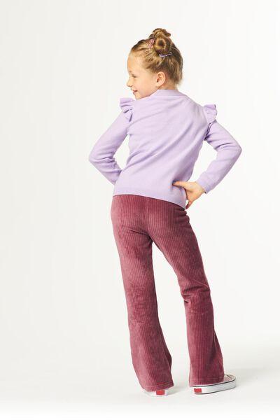 kindervest met ruffle lila 98/104 - 30857556 - HEMA