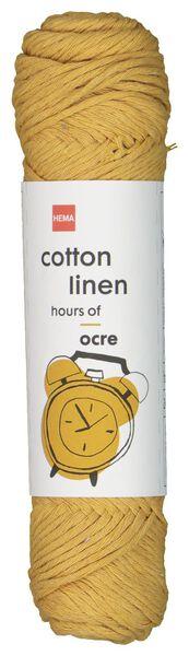 brei en haakgaren katoen/linnen okergeel okergeel cotton linen - 1400200 - HEMA