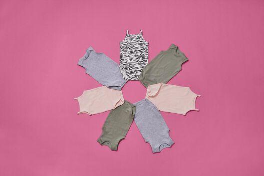 romper organic katoen stretch roze 62/68 - 33320322 - HEMA
