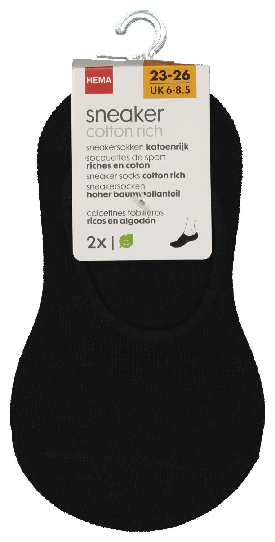 HEMA 2-pak Kinder Sneakersokken Zwart (zwart)