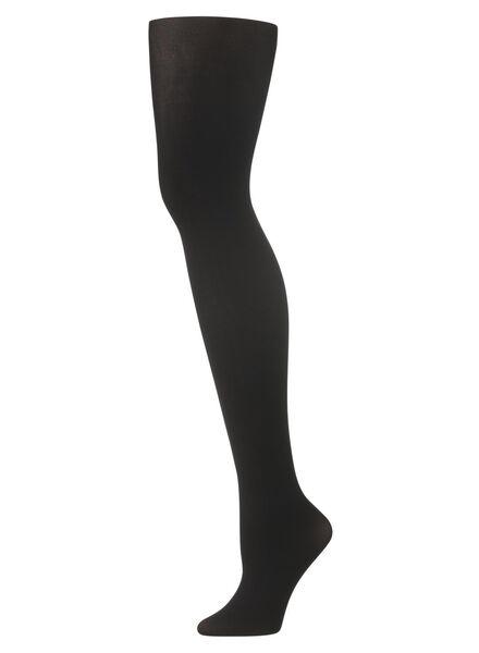 panty push-up 60denier zwart 48/52 - 4072109 - HEMA