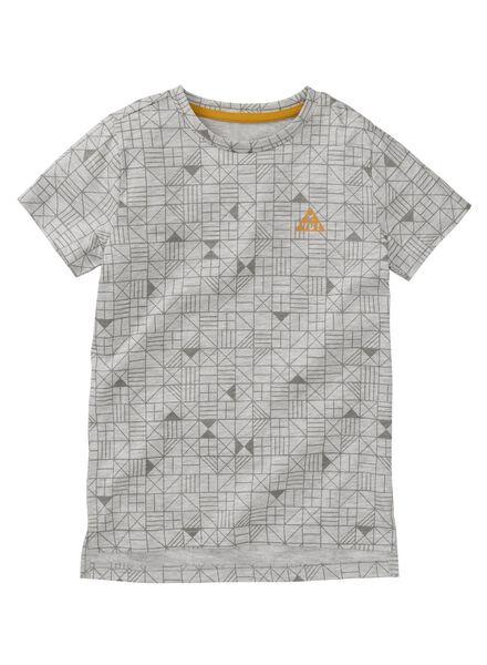 kinder t-shirt grijs grijs - 1000008250 - HEMA