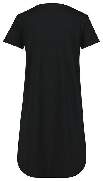 damesnachthemd tekst zwart zwart - 1000023868 - HEMA