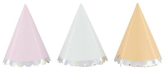 feesthoedjes Ø 8 cm high tea - 6 stuks - 14230194 - HEMA