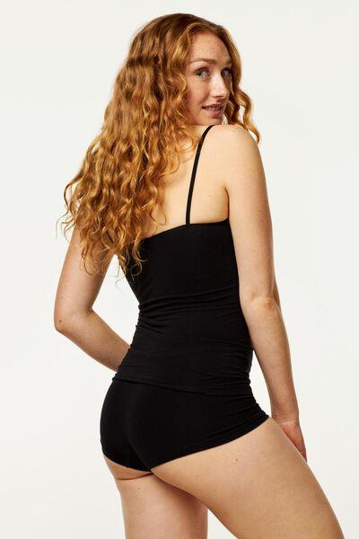 dameshemd naadloos met bamboe zwart S - 19600181 - HEMA