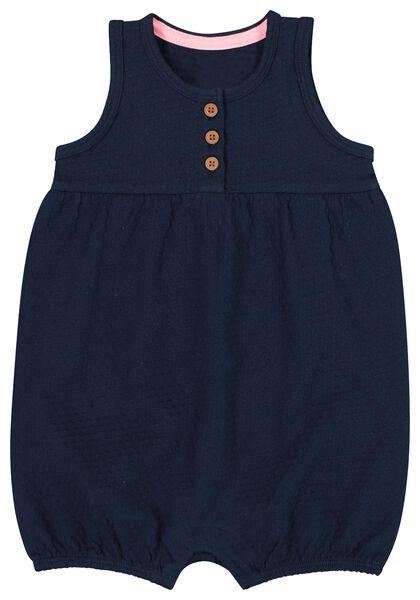 babyjumpsuit donkerblauw donkerblauw - 1000019797 - HEMA