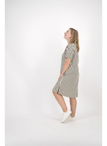damesjurk wit/zwart wit/zwart - 1000014150 - HEMA