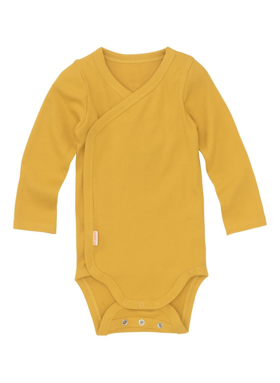 HEMA Newborn-prematuur Overslagromper Bamboe Stretch Geel (jaune)