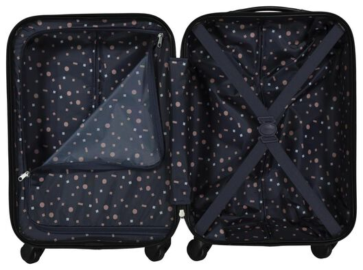 koffer - 55x35x20 - structuur - donkerblauw - 18630100 - HEMA