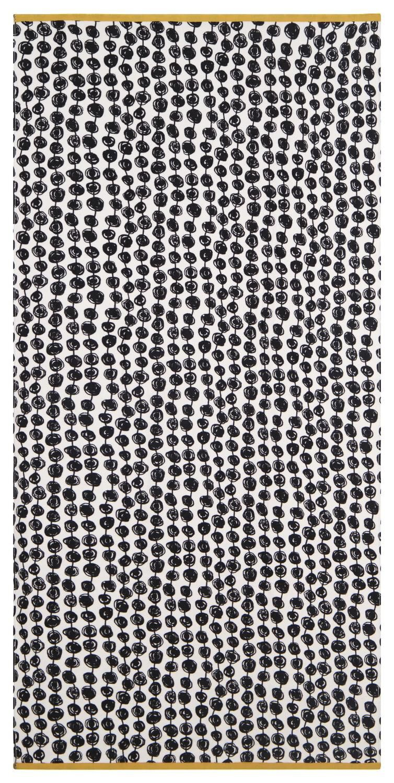 HEMA Strandlaken 90x180 Velours Stip Zwart wit