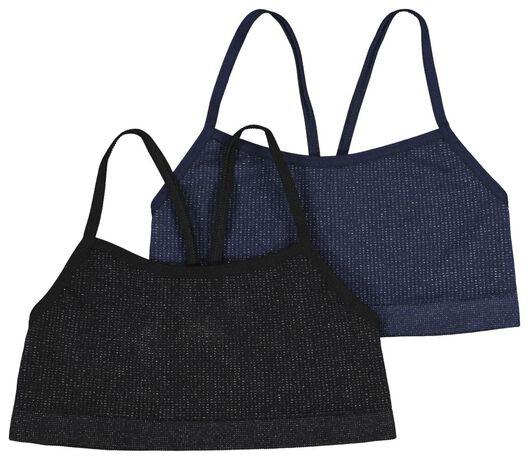 2-pak kinder soft tops donkerblauw donkerblauw - 1000021574 - HEMA
