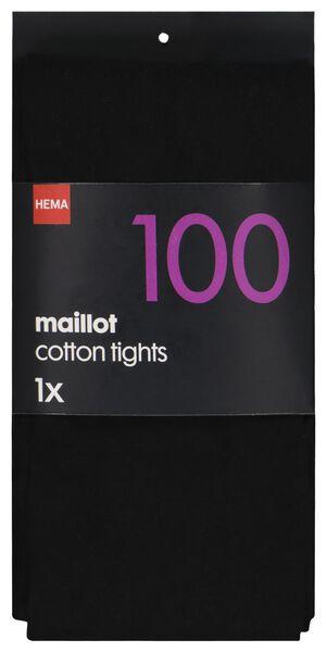 maillot katoen 100denier zwart 48/52 - 4072059 - HEMA