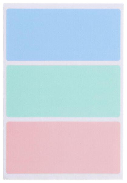 etiketten 7.5x3.4 pastel - 105 stuks - 14160031 - HEMA