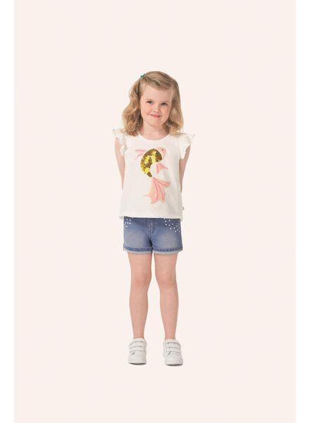 kinder t-shirt gebroken wit - 1000007693 - HEMA
