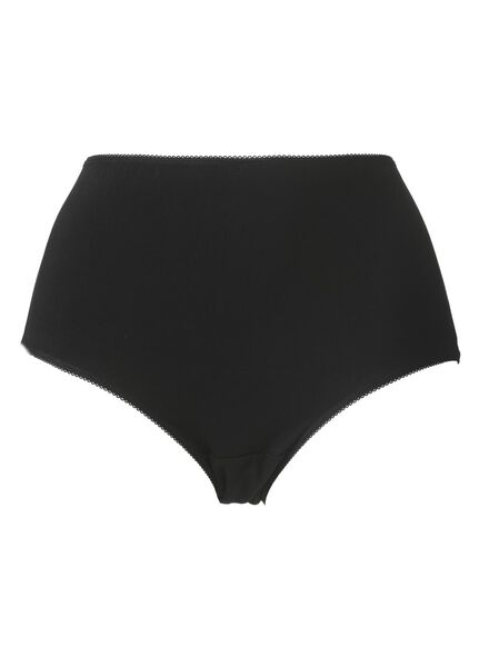 3-pak hoge damesslips katoen zwart zwart - 1000006536 - HEMA
