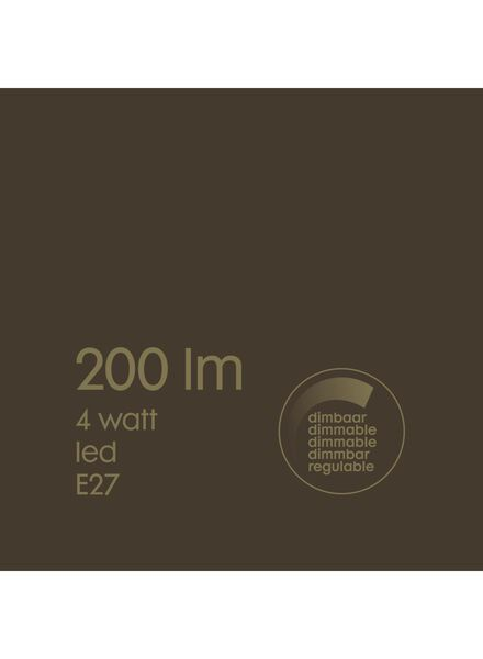 LED lamp 4W - 200 lm - peer - goud - 20020069 - HEMA