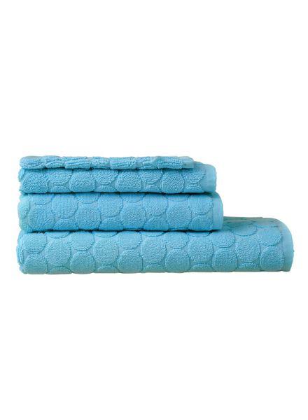 handdoek - 70 x 140 cm - zware kwaliteit - aqua gestipt aqua handdoek 70 x 140 - 5240177 - HEMA