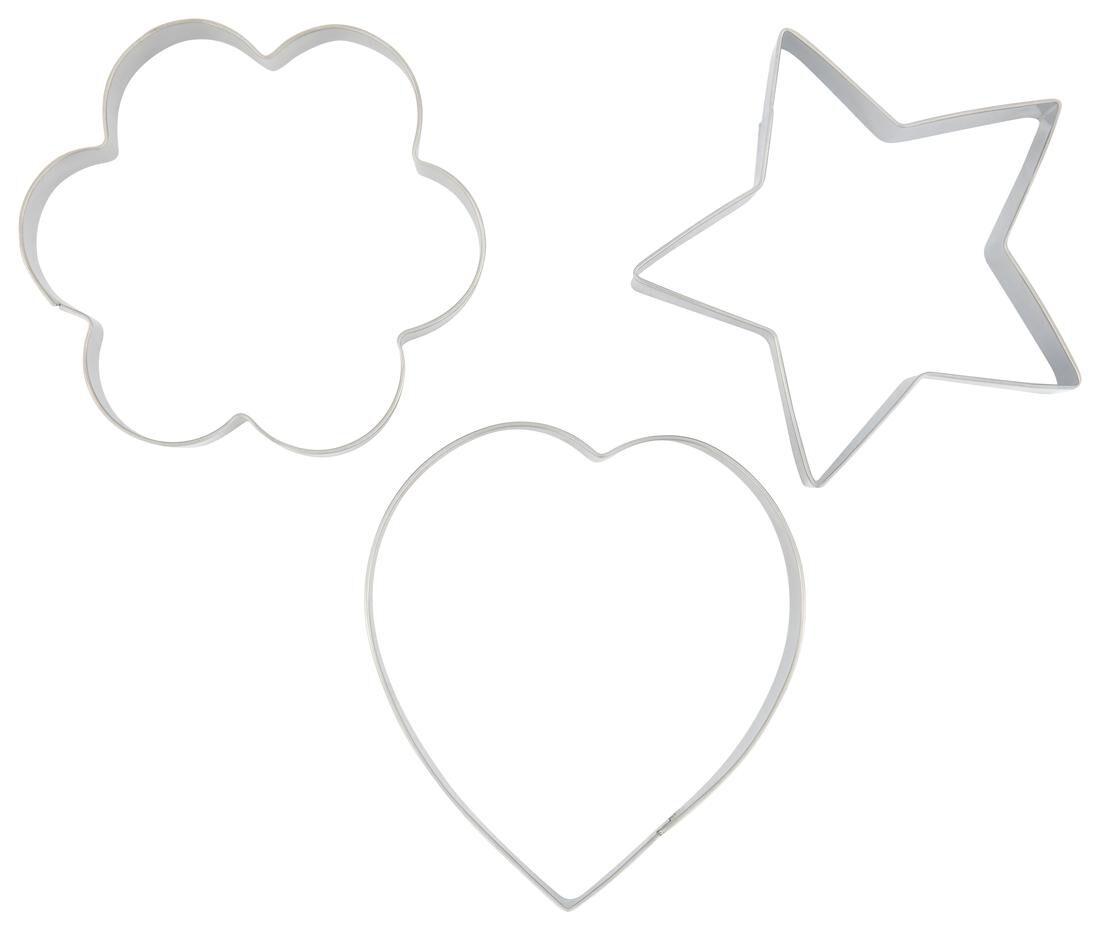 HEMA Uitdrukvormpjes - 3 Stuks (grijs)