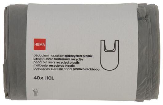 Pedaalemmerzakken 10L gerecycled plastic - 40 stuks