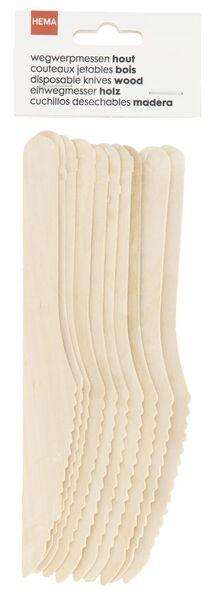wegwerpmessen hout 10 stuks - 14200501 - HEMA
