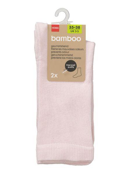 2-pak damessokken roze 39/42 - 4240067 - HEMA