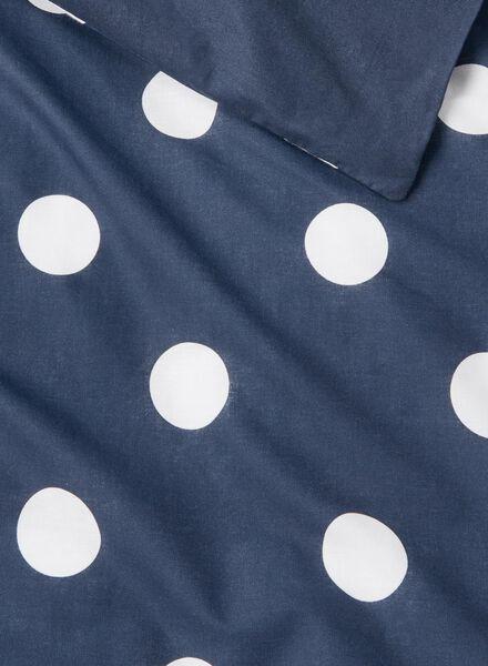 dekbedovertrek - katoen - 240 x 220 cm - donkerblauw stip - 5700053 - HEMA