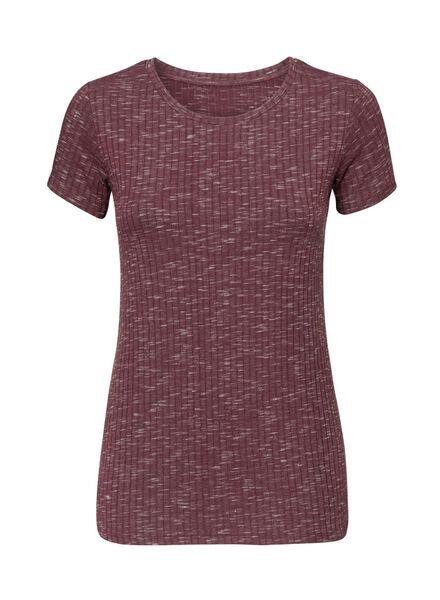 dames t-shirt donkerrood donkerrood - 1000003706 - HEMA