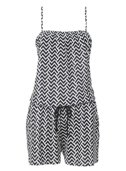 dames jumpsuit zwart/wit zwart/wit - 1000007494 - HEMA
