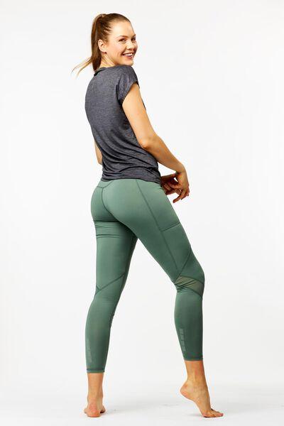 dames hardlooplegging mesh groen XL - 36090064 - HEMA