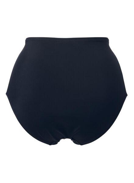 dames bikinislip high waist medium control recycled blauw S - 22340321 - HEMA