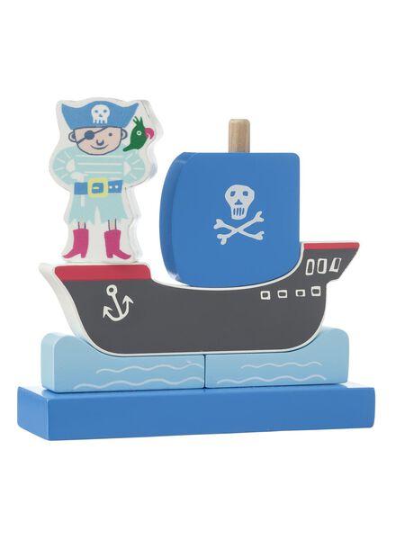 houten stapel puzzel piraat - 15110222 - HEMA