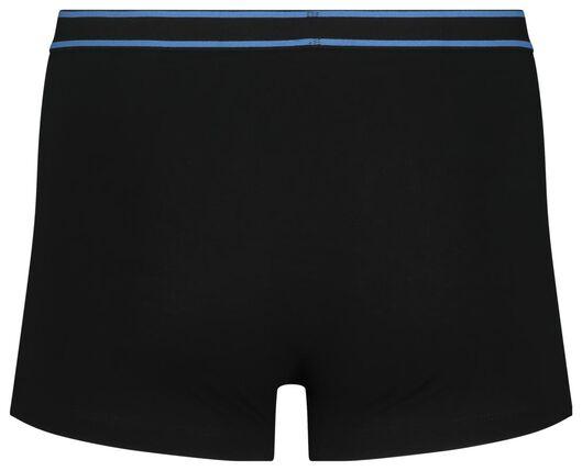 3-pak herenboxers kort katoen stretch zwart zwart - 1000018789 - HEMA