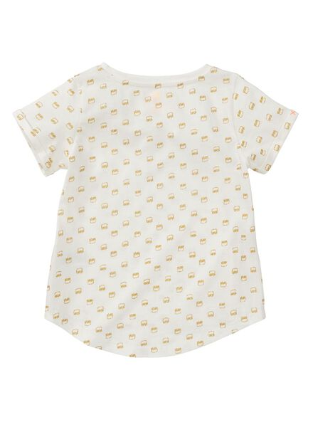 kinder t-shirt gebroken wit gebroken wit - 1000011938 - HEMA