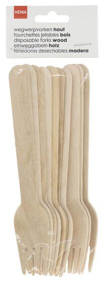 wegwerpvorken hout 10 stuks - 14200500 - HEMA