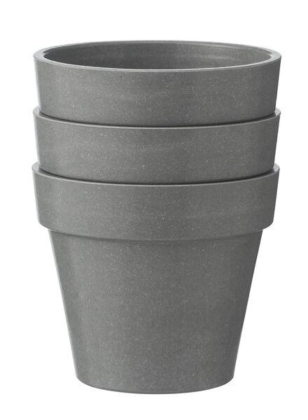 3-pak bamboo potten - 41330110 - HEMA