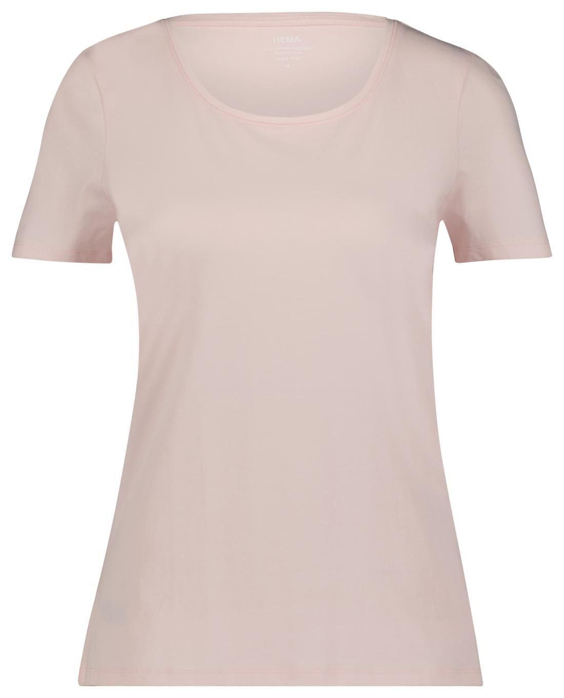 HEMA Dames Basic T-shirt Lichtroze (lichtroze)