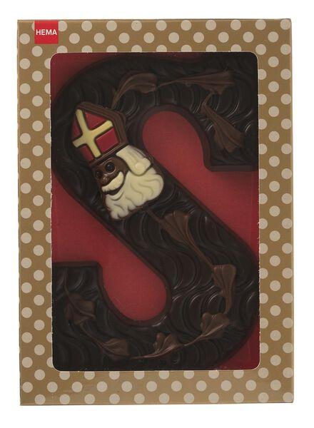 gedecoreerde pure chocoladeletter S - 10038072 - HEMA